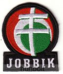 Felvarrható hímzett Jobbik matrica (7x8 cm)