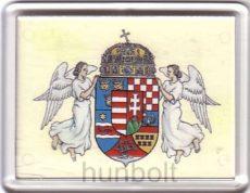 Angyalos címer hűtőmágnes (műanyag keretes)