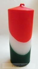 Nemzeti színű henger gyertya 15 cm