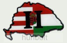 Műgyantás domború Nagymagyarország osztott címeres H matrica