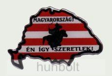 Műgyantás domború Nagymagyarország Magyarország én így.... Matrica
