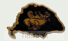 Műgyantás domború csodaszarvas matrica (8,5X6 cm)