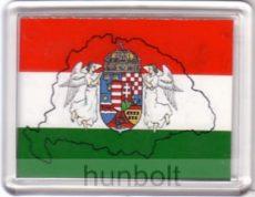 Nagy-Magyarország zászlóval hűtőmágnes (műanyag keretes)