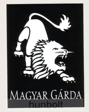 Magyar Gárda négyszögletes matrica (7 2494234311