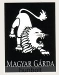Magyar Gárda négyszögletes matrica (7,5x10 cm)