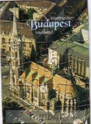 Puzzle képeslap Budapest, Mátyás-templom, 10,5X15 cm