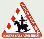 Háromszög alakú Magyar baba a kocsiban külső matrica (14X16 cm)