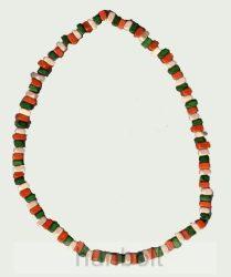 Nemzeti színű fagyöngy nyaklánc