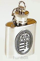 Fém flaska ón címerrel kulcstartó