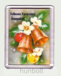 Karácsonyi hűtőmágnes I. (műanyag keretes)