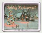 Karácsonyi hűtőmágnes VI (műanyag keretes)