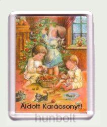 Karácsonyi hűtőmágnes VII. (műanyag keretes)