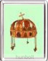 Magyar korona hűtőmágnes (műanyag keretes)