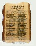 Szózat- fatáblás falikép