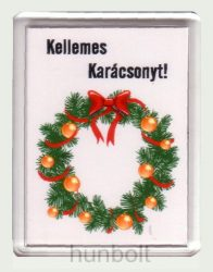 Karácsonyi hűtőmágnes IX. (műanyag keretes)