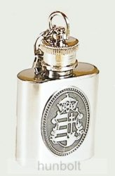 Fém flaska ón Kossuth címerrel kulcstartó