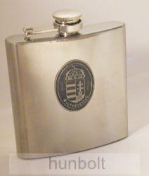 Ón címeres ezüst színű rozsdamentes flaska