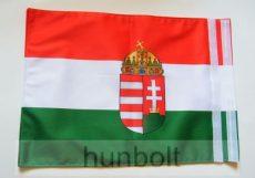 b5e9997a75 Kétoldalas nemzeti színű címeres zászló hajóra tépőzárral (30X40 cm) - Magyaros  termékek