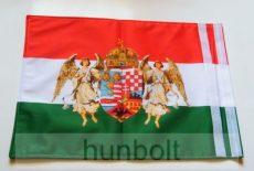Kétoldalas nemzeti színű barna angyalos zászló hajóra, tépőzárral