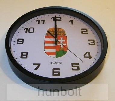 709afb68d6 Műagyag falióra magyar címerrel fekete színben (átmérő: 25 cm ...