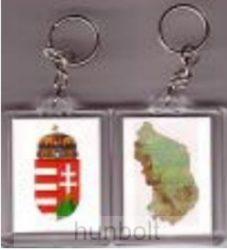 2 oldalas kulcstartó (címer+ Magyarország)