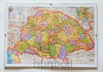 Üveglapos falikép, Nagy - Magyarország térkép 21X30 cm