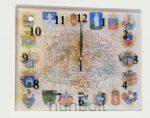 Nagy - Magyarország falióra műanyag fedőlappal és vármegyék címereivel