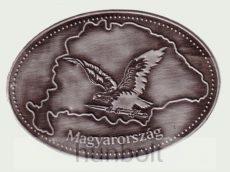Ón Nagy-Magyarország turulos ovális hűtőmágnes (10X7 cm)