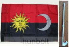 Székely autós harci zászló, ablakra tűzhető 25X35 cm