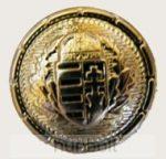 Koszorús címeres arany színű gomb