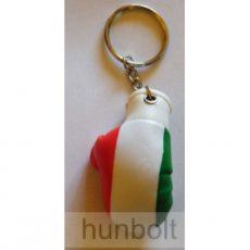 Nemzeti színű bokszkesztyű kulcstartó (5,5x3,5 cm)