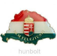 Nagy-Magyarországos zászlós címeres jelvény (39x24 mm)