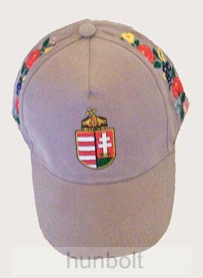Baseball kalocsai hímzett szürke sapka - Magyaros termékek 6abde520ff