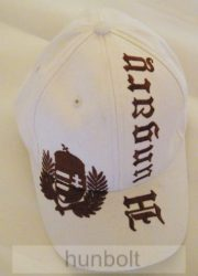 Baseball koszorús címeres sötét barna Hungary feliratú, fehér színű sapka