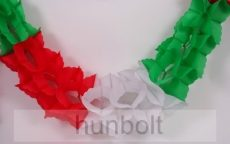Girland - nemzeti színű