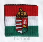 Nemzeti színű, címeres csuklószorító