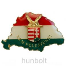 Nagy-Magyarországos zászlós turul címeres jelvény (39x24 mm)
