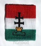 Nemzeti színű, kettős keresztes csuklószorító