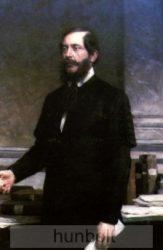 Üveglapos falikép, Kossuth Lajos 21x30 cm
