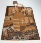 Barna címeres dísztasak  (ajándék tasak)