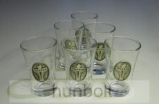 Ón trianon címkés pálinkás pohár és készlet