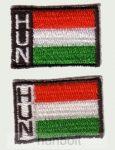 Felvasalható különböző színű  Hun matrica 3,5x2,5cm