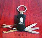 Hungary feliratos, címeres kulcstartó- kisolló, körömreszelő, bontó és kiskés