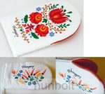 Edényfogó kesztyű festett kalocsai mintával