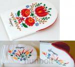 Edényfogó kesztyű festett kalocsai és matyó mintával
