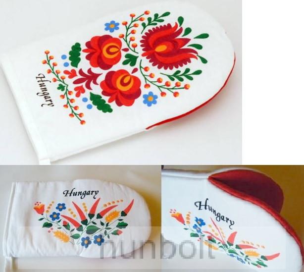 d247bff2d1 Edényfogó kesztyű festett kalocsai mintával - Magyaros termékek