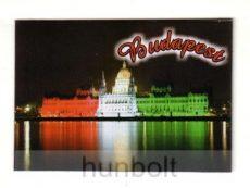 Budapest hűtőmágnes Országház nemzeti színben 9,5x 6,5cm