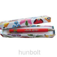 Kalocsai mintás toll doboz piros tollal