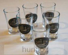 Nagy-Magyarország  ón címkés pálinkás pohár