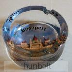Budapest- Parlament mintás üveg hamutál 8,5 cm